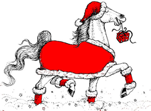 Christmas Horse Cartoon.Polly Paintbrush Outrageous Originals And Custom Designs
